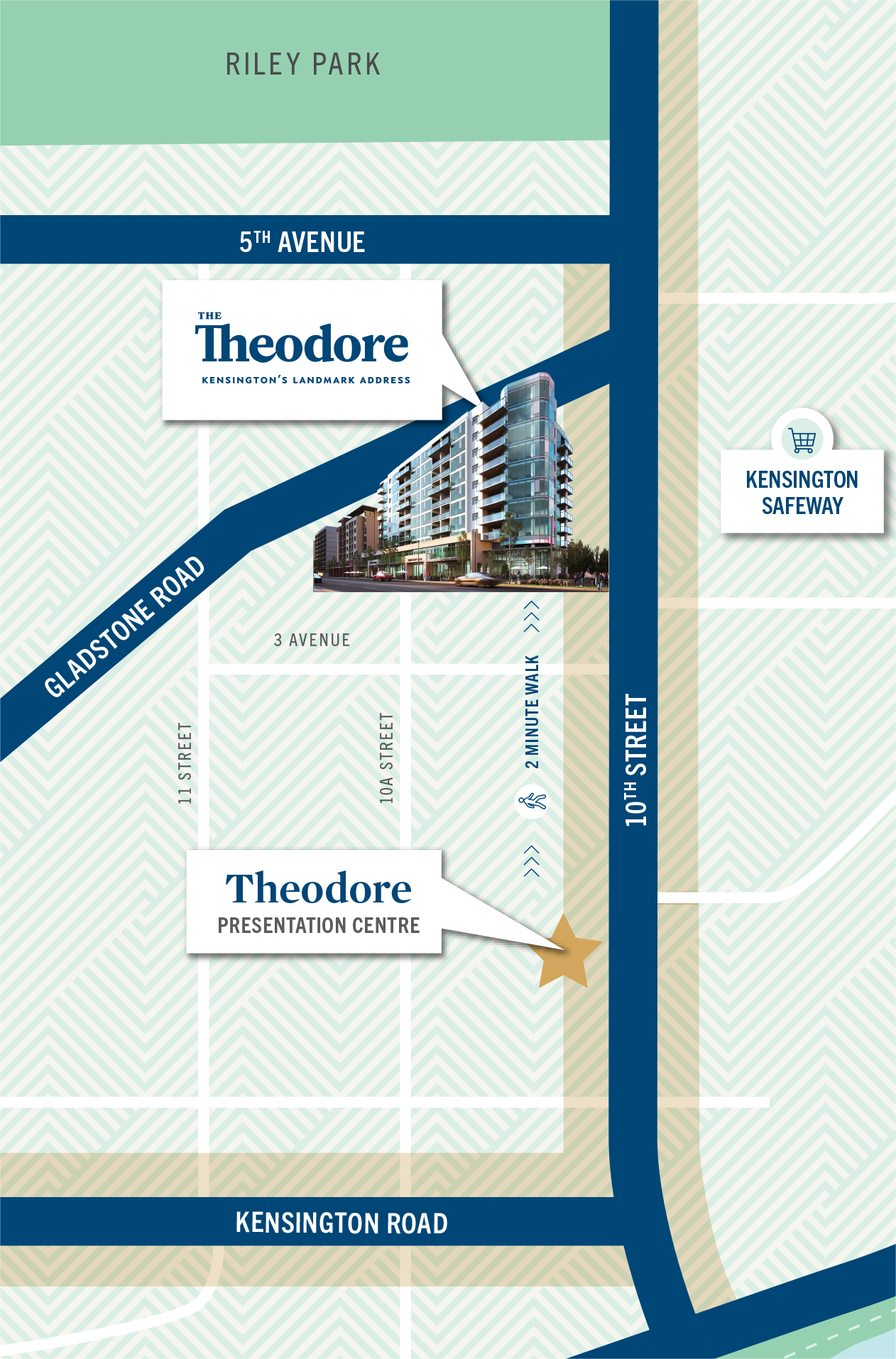 Location map of The Theodore and Presentation Centre & Show Suite